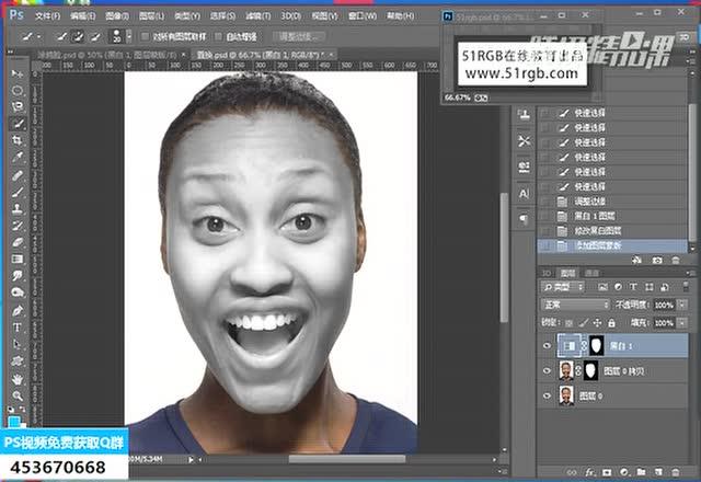 ps教程:脸部艺术涂鸦设计(上)