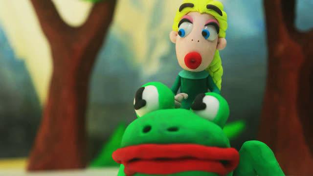 艾莎公主与青蛙王子!橡皮泥diy定格动画