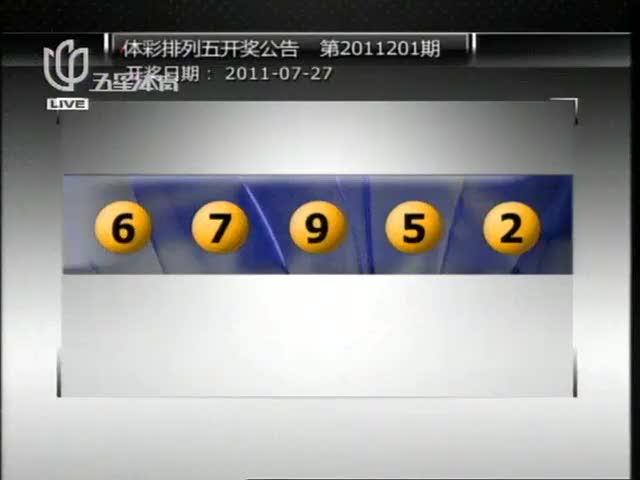 体彩排列五开奖公告 第2011201期图片