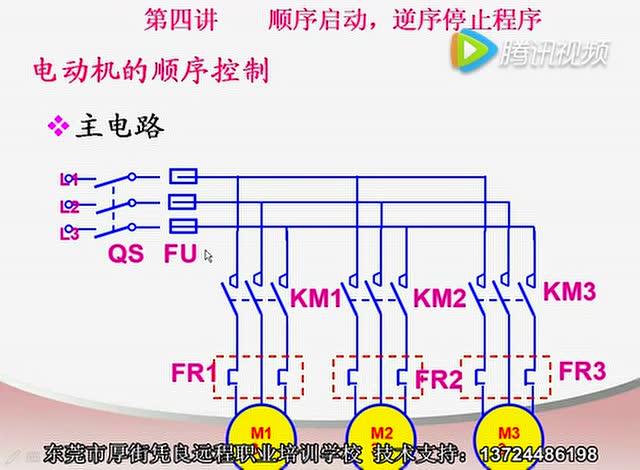 电机的顺序启动逆序停止plc基础知识符号图解