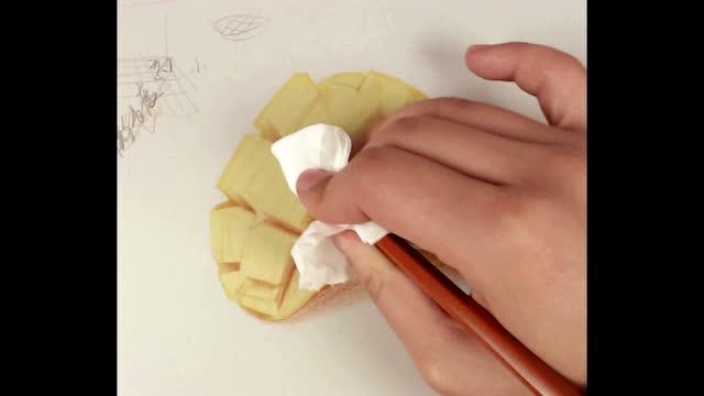 芒果 彩铅画教程