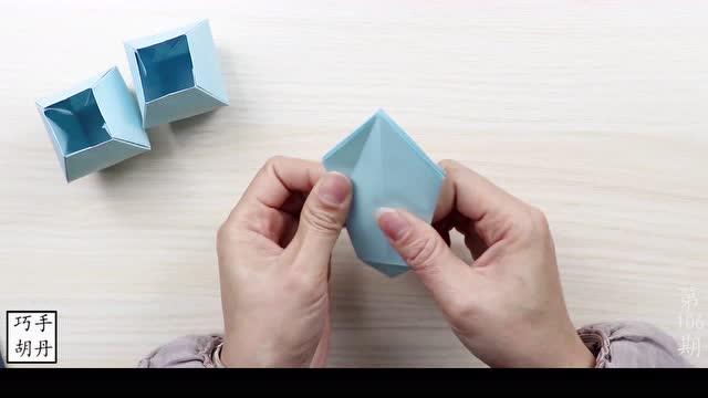 简单易学的纸花瓶折纸,关键还很实用生活所需,折纸视频教程
