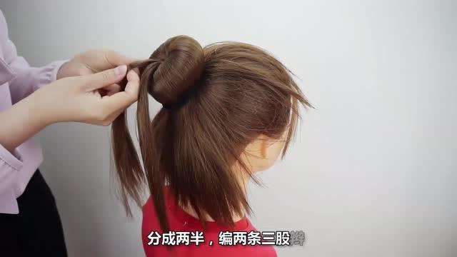 小女孩编发发型 五岁儿童发型设