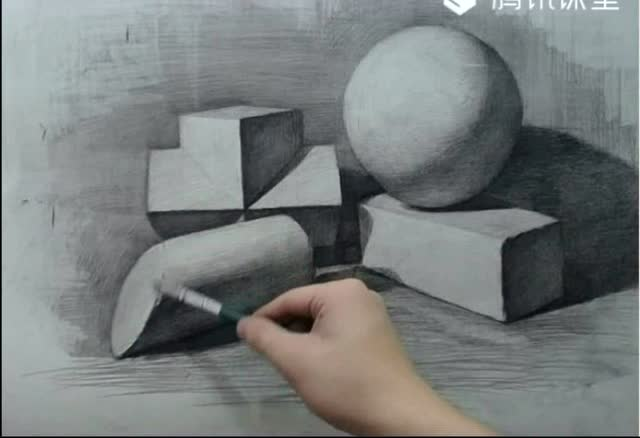 零基础素描:石膏体组合