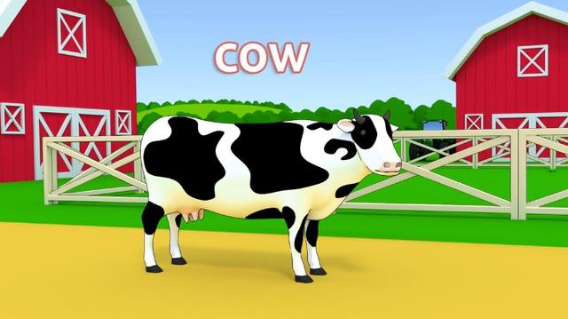 幼儿英语启蒙 农场里的动物们 宝宝轻松学单词