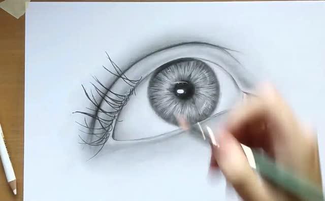大神教你用铅笔画3d眼睛!好立体的感觉!
