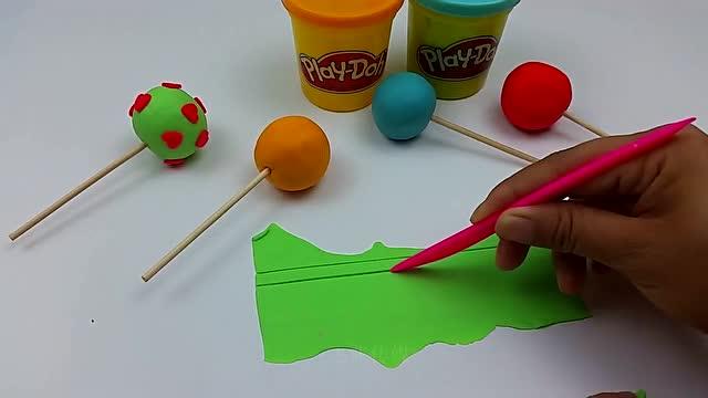 培乐多彩泥儿童手工彩色棒棒糖