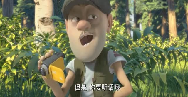 熊出没:熊大熊二和光头强想办法拍纪录片挣钱,想给赵琳换身装备图片