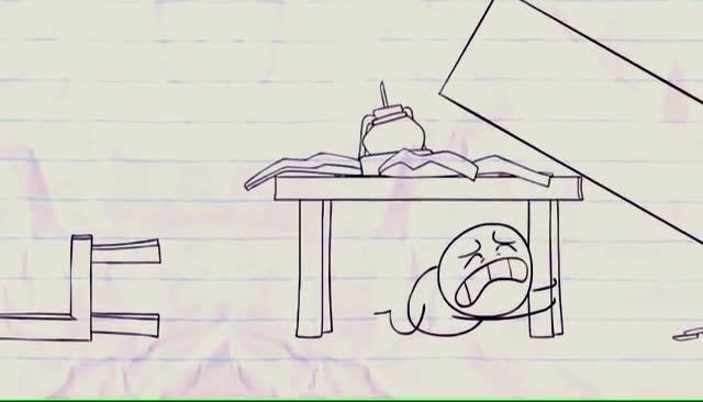 地震卡通手绘图