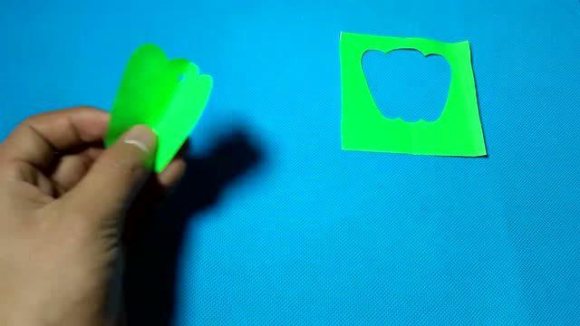 儿童手工diy剪纸教程:剪纸辣椒青椒