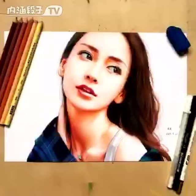 杨颖手绘图片剪辑