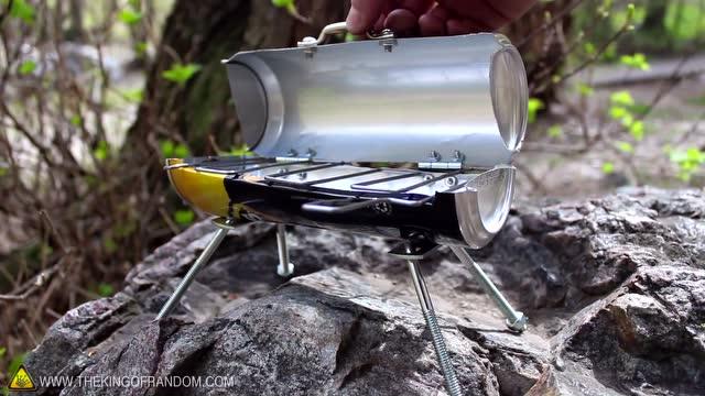 用易拉罐做小烧烤炉