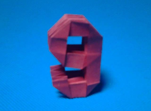 折纸王子教你折3d立体数字9