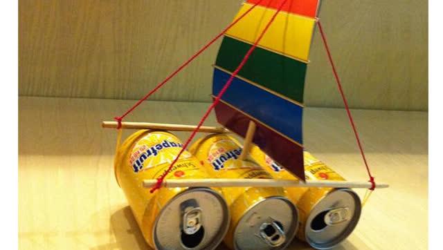 变废为宝:易拉罐巧动手变身漂亮小帆船