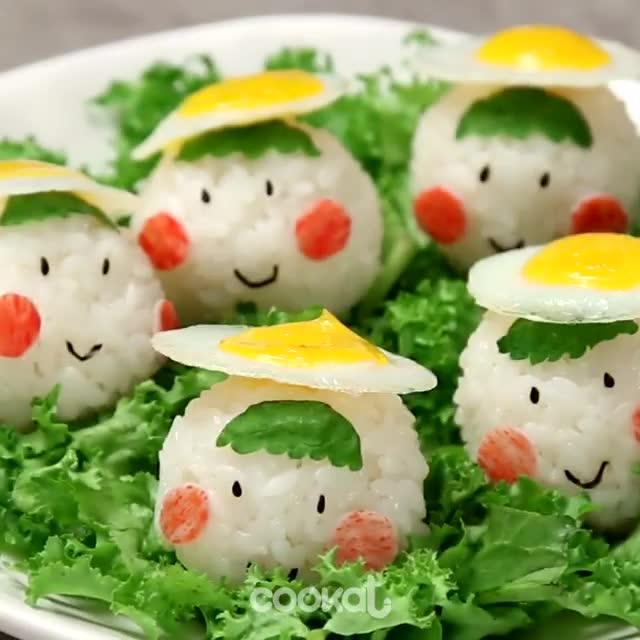 给宝宝的选择,可爱的煎蛋饭团,萌萌哒!