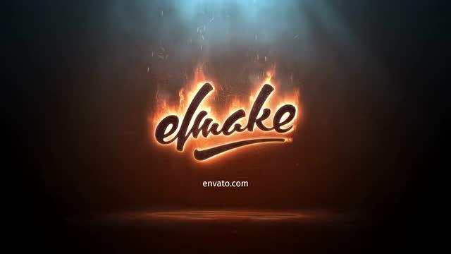 动态火焰logo片头动画标志 燃烧 火苗素材 ae模板