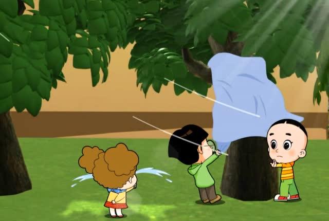大头儿子小头爸爸:大头把小明绑树上了,自己还绕晕了,这下白忙了