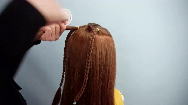 幼儿园扎头发简单好看 女童发型绑扎方法