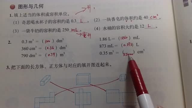 五年级数学下册 培优课堂90 图形与几何 知识易解