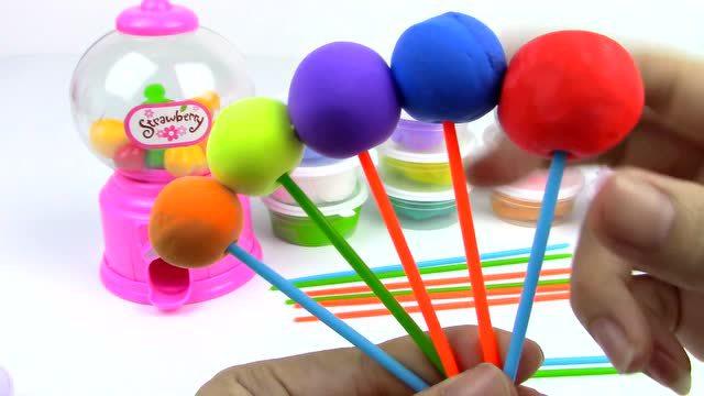 彩泥橡皮泥diy棒棒糖 亲子早教玩具 儿童手工彩泥 粉红猪小妹玩具
