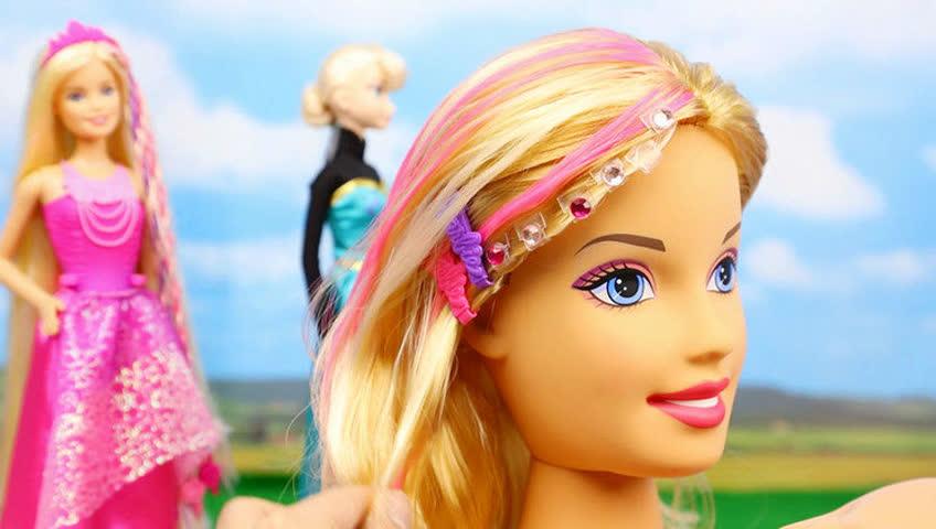 芭比娃娃 闪钻头饰订书机 手工玩具 给芭比做头发