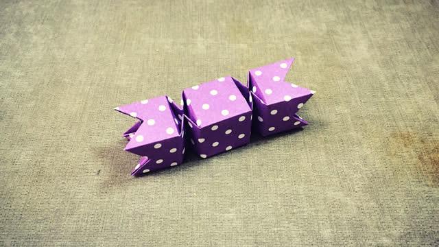 第271期 手工折纸:糖果盒子折纸视频
