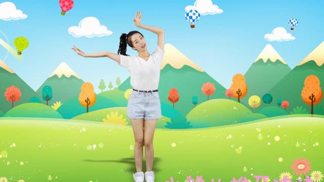 天天练舞功:儿童律动舞蹈《让我们荡起双桨》幼儿舞蹈