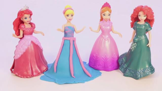 橡皮泥给芭比娃娃长发公主手工制作连衣裙视频教程