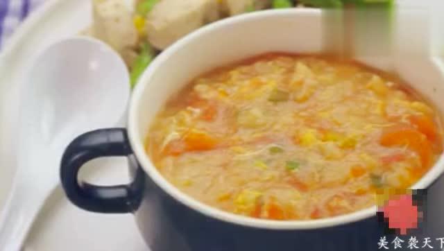 番茄疙瘩汤,学会了可以做上一大锅,一家人吃个团圆饭
