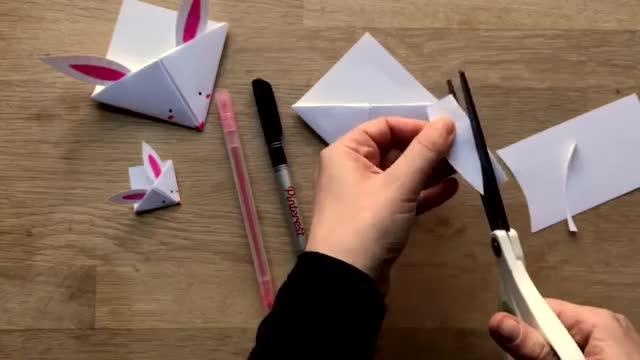 折纸 小兔子书签