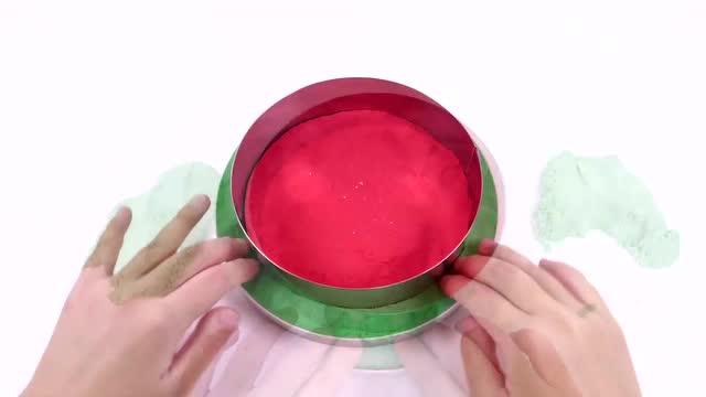 培乐多彩泥diy益智玩具如何制作西瓜冰淇淋太空沙儿童