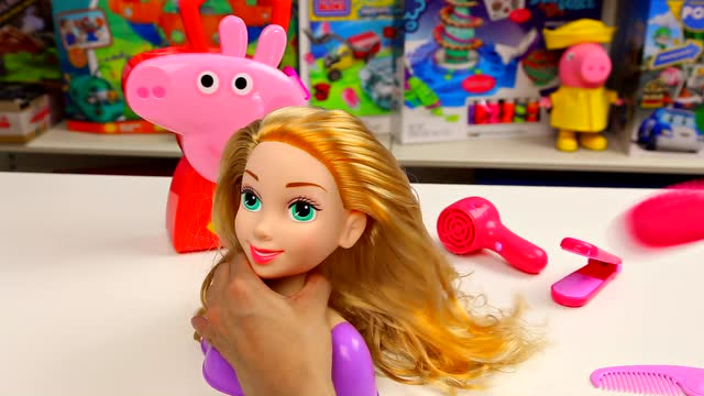 趣盒子 | 小猪佩奇 发型屋 小公主苏菲亚 韩式编发 盘发游戏