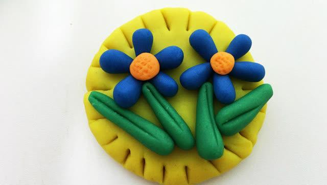 玩具视频 橡皮泥手工制作小菊花