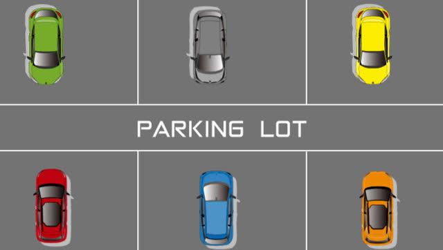 幼儿英语启蒙动画学单词之小汽车系列停车场 学习6种颜色