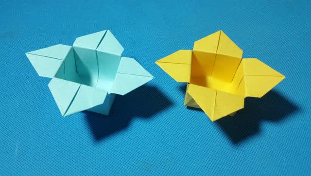 折纸王子教你折纸柿花盒子 儿童折纸大全视频教程