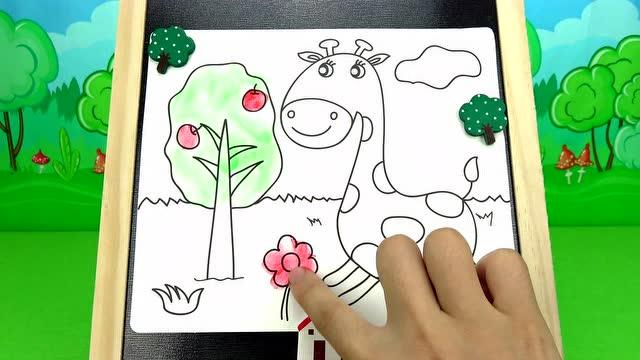 超级飞侠小爱小青画七彩斑马和苹果树 儿童绘本