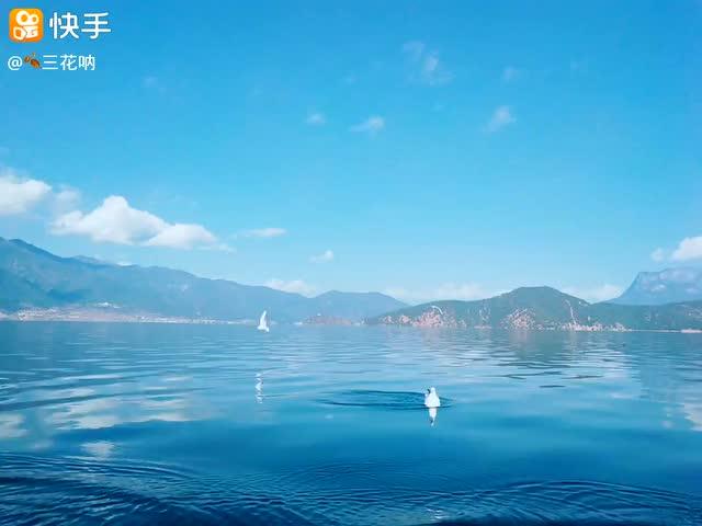 人间天堂!丽江市宁蒗彝族自治县洛水三家村泸沽湖.