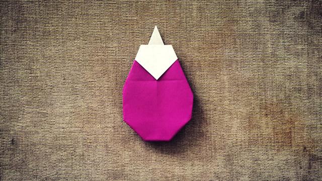 第260期 儿童折纸:茄子折纸视频教程