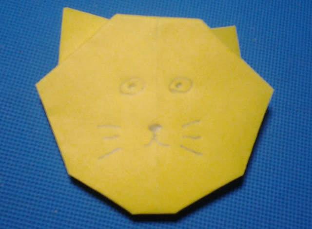 折纸王子教你折猫头 第二款 儿童折纸大全