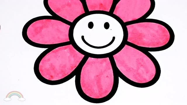 花儿朵朵 简笔画儿歌 宝宝画画巴士精选