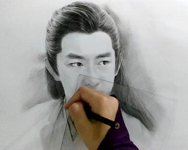 宇文玥 林更新,手绘素描楚乔传