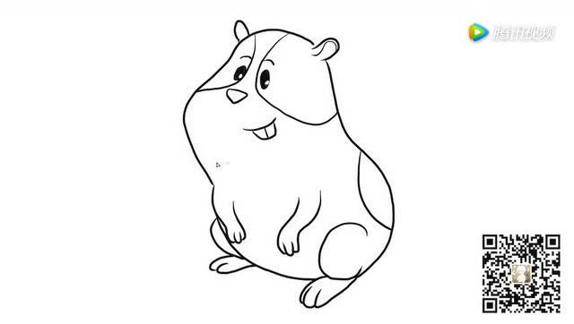 豚鼠儿童亲子简笔画 宝宝轻松学画画