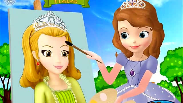 小公主苏菲亚 苏菲亚画画