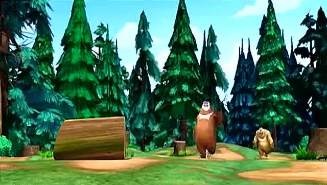 熊出没:森林里来了新的伐木工 武力好强 熊兄弟都怕了