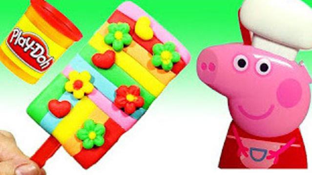 小红蛋蛋玩具 橡皮泥做花花冰棒