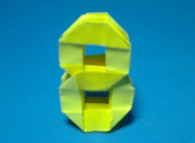 折纸王子教你折3d立体数字8