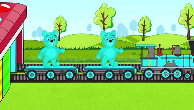 宝宝学习颜色,小熊坐着小火车出去旅行
