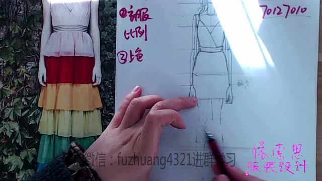 初学者设计衣服怎么画,如何快速上手,做一个设计师