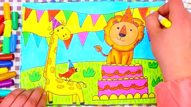 物品,人物,动物等,既能学习到儿童画的方法,还可以培养儿童的观察能力