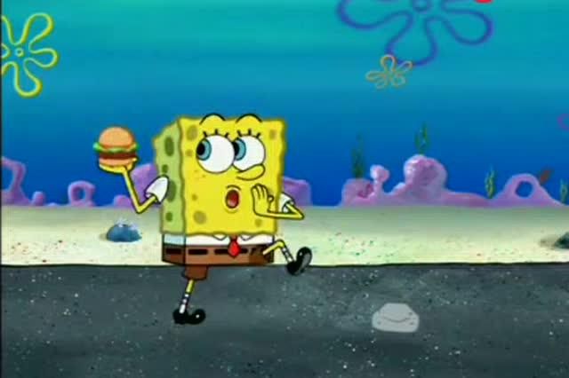 海绵宝宝与海之子_为了抢走海之霸的唯一顾客,海绵宝宝竟然将蟹黄堡硬塞